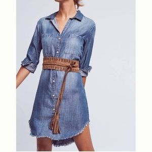 Cloth & Stone fringed chambray tunic dress